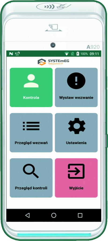 Kontrola mobilna aplikacja